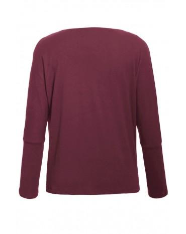 Burgundy Concise Pullover Sweatshirt