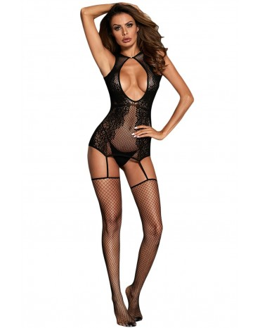 Sexy Hollow-out Floral Netted Bodystocking