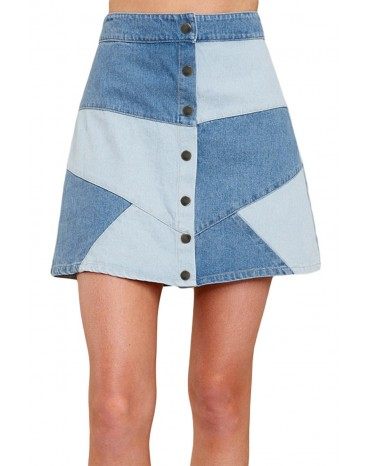 Here Goes Nothing Denim Skirt