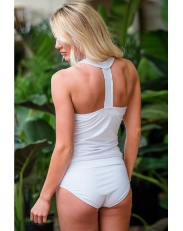 White Retro Sydney Sporty Tankini