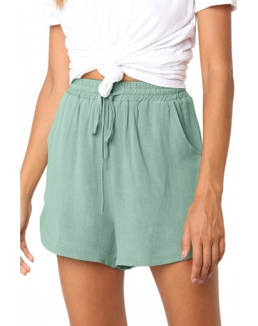 Green Summer Casual Shorts