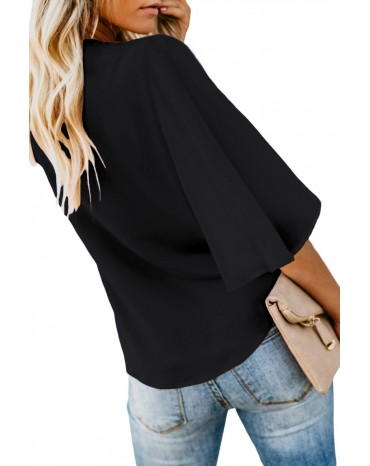 Black Forever Tonight Button Down Tie Top