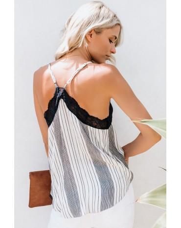 Stripe Love Bites Lace Cami Tank