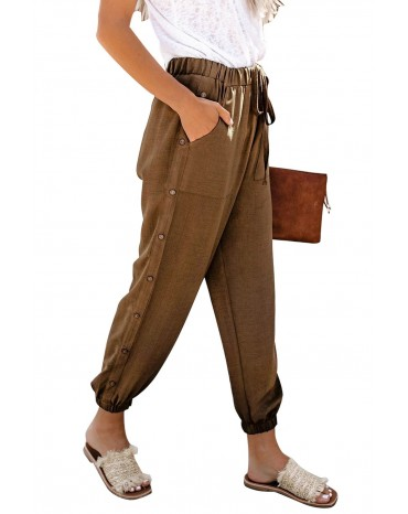 Brown On The Run Pocketed Pants