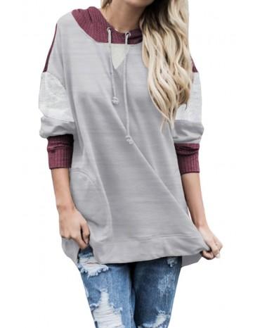Gray Contrast Hoodie
