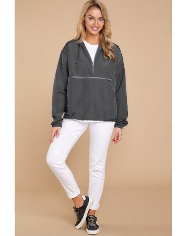 Gray Windbreak Jacket